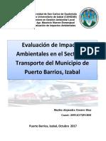 Medidas de Mitigación Por Transporte