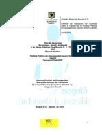 Rendicion de Cuentas Politica de Discapacidad 2008 2009