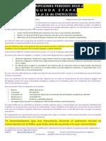 ReinscripcionesPeriodo 2019-2 SegundaEtapa