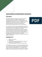 Apache Webserver Administration