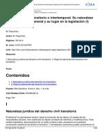 Derecho Civil Transitorio. Tomo I