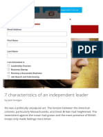 7 Characteristics of an Independent Leader – the Practical Leader