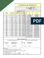 Calibração anel dinanometrico