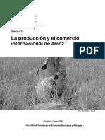 Produccion y Comercio Del Arroz 2007