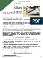 O Professor e o Planejamento _ †Subsídios EBD