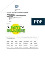 Activity Sheet | Grade 3 | Halloween Alphabetical Order