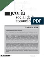 Teoria social de la comunicacion