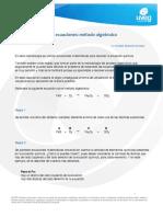 Balanceo de Ecuaciones_ Método Algebraico