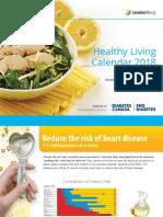 Healthy Living Calendar 2018 for diabetes