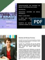 Slides a Crise Dos Anos Vinte e a Revolução de Trinta - Marieta de Moraes Ferreira.
