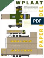 Getron Bouwplaat Truck