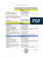 Cronograma Etapa II y III