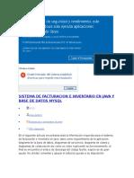 Sistema de Facturacion e Inventario en Java y Base de Datos Mysql