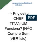 → Frigideira Ultra CHEF Titanium é Boa? [Saiba a VERDADE JÁ!]