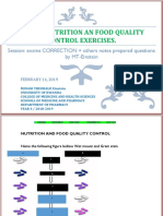 NUTRITIONS AND and FOOD QUALITY CONTROL