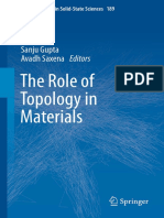 2018 Book TheRoleOfTopologyInMaterials