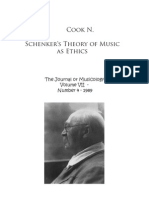 Cook N. - Schenker's Theory of Music as Ethics