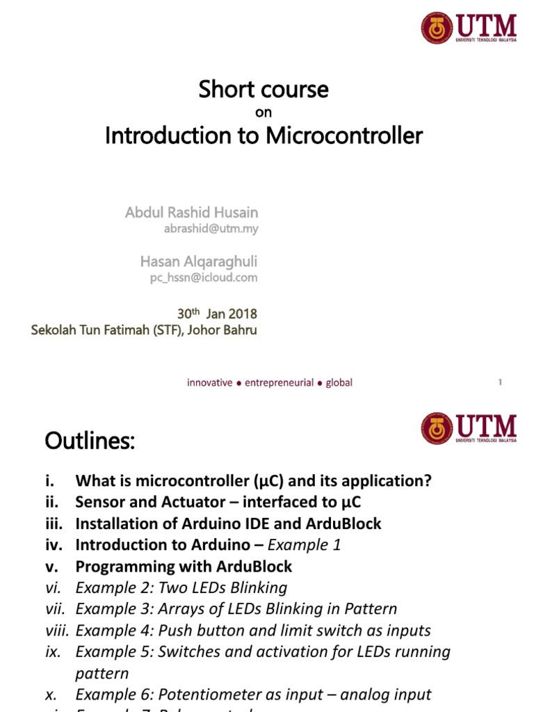 Pengenalan kepada Mikropengawal | Arduino | Electronic Circuits