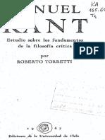 Metafísica Em Tempo de Kant Torreti