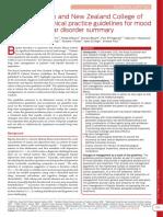 RANZCP - practice guidelines mood disorder