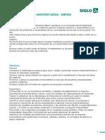 EMPRENDIMIENTOS UNIVERSITARIOS - EMP202