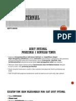 Sosialisasi Audit Internal