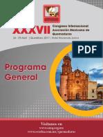 Programa Final ASOCIACION MEXICANA DE QUEMADURAS
