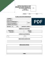 2.- Planillas de Datos Personales - Pregrado