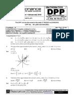 XII Maths DPP (38) - Prev Chaps - Vector&3D