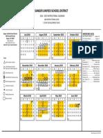 2018-19 instructional calendar