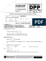 XII Maths DPP (33) - Prev Chaps - Determinant&Matrices