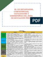 Cartel de Capacidades, Competencia, Estandares