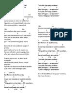 Letras y Acordes San Romero de Las Americas