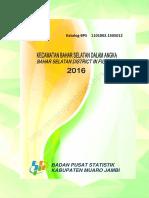 Kecamatan Bahar Selatan Dalam Angka 2016 (1)
