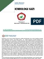 Epidemiologi Pertemuan 2 Epid.gizi