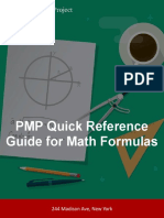Quick Reference Guide for Formulas