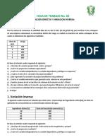 HT02 Variacion Directa e Inversamente Proporcional