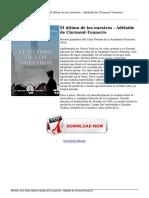 Leer eBook Online El Ultimo de Los Nuestros Adelaide de Clermont Tonnerre