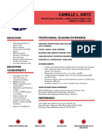internship resume 2018