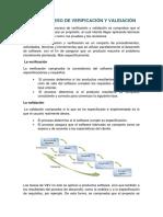 1.3 El Proceso de La Verificación y Validación