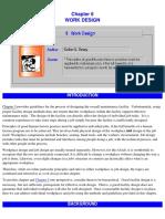 Chp 6 Work Design