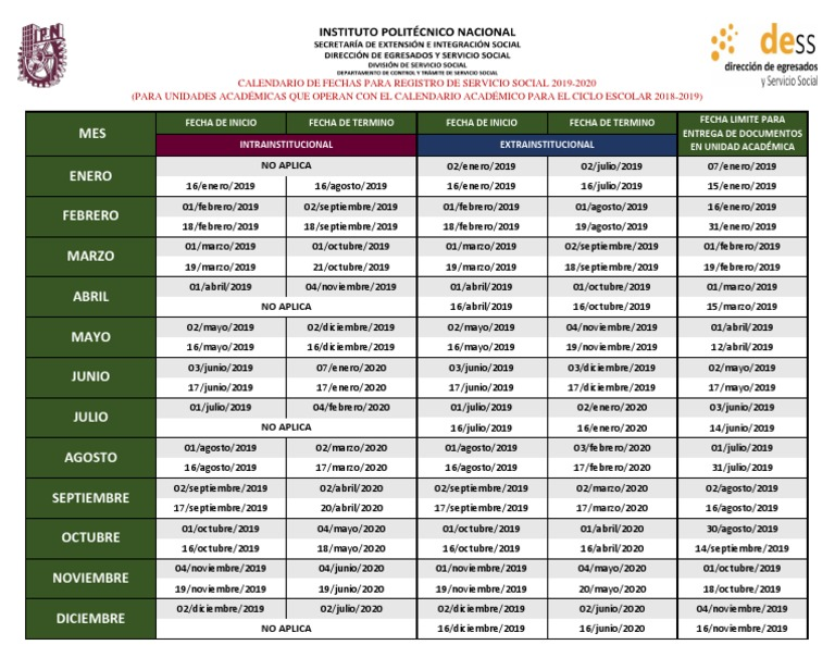 Calendario Academico 2020 16.4 5 Pdf 2 Pdf