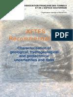 AFTES geological tunnel risks