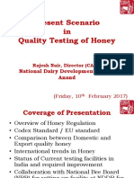Present Scenario in Quality Testing of Honey