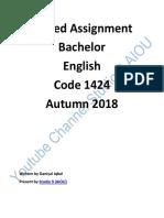 Assignment 1424 2 Autumn 2018