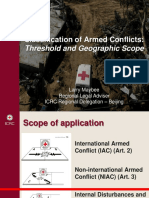 Classification of Armed Conflicts - SNAS 2017