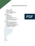Soluciones Student's Book-English File 3e Pre-Int Sb Answer Key