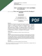 Teoría Instruccional y tecnología para el nuevo paradigma de la educación