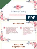Coordinators of Teaching