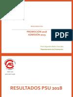 PSU Promoción 2018